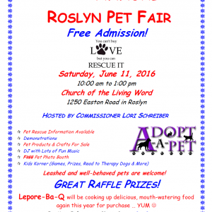 roslyn pet fair 2016